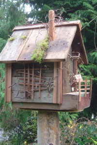 Completed bird-house